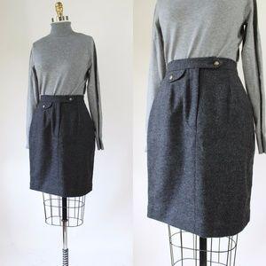 Vtg J PETERMAN Gray Wool Skirt